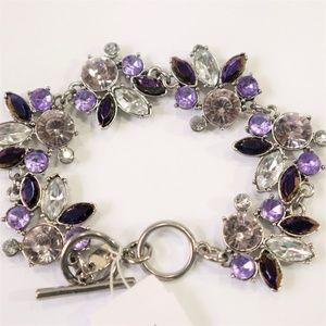 New Vivi Purple & White Statement Bracelet